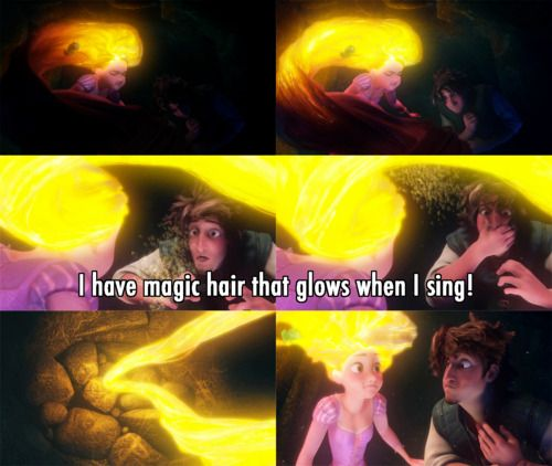 """I have magic hair.."" ~ Tangled (2010) ~ Movie Quotes #amusementphile"