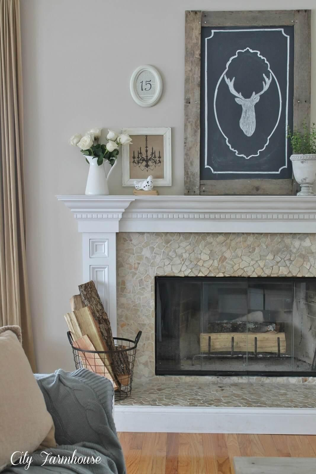Elegant provincial country fireplace mantle rustic pinterest