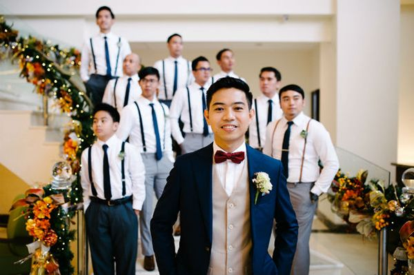 Dreamy And Divine Tagaytay Wedding Groom And Groomsmen Wedding