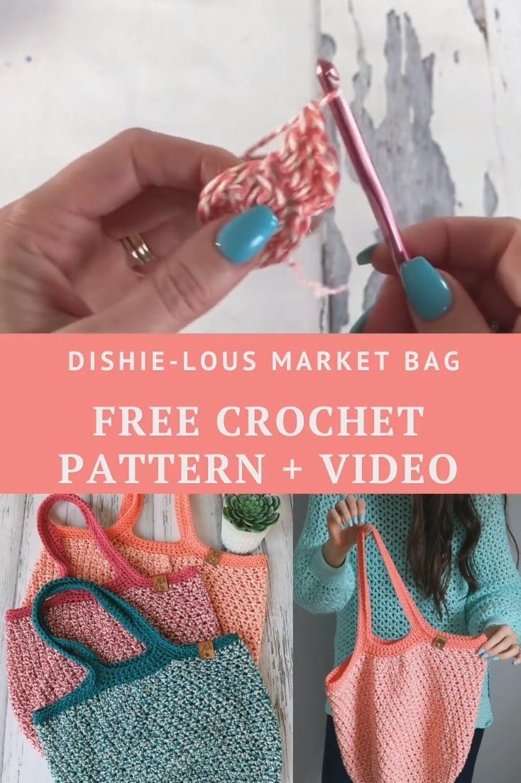 Photo of Free Crochet Pattern – Dishie-lous Market Bag
