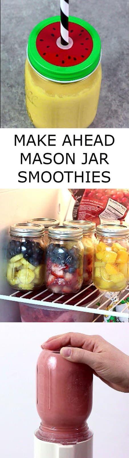 make ahead mason jar smoothies the wholesome dish mason jar smoothie refreshing drinks recipes frozen fruit recipes pinterest