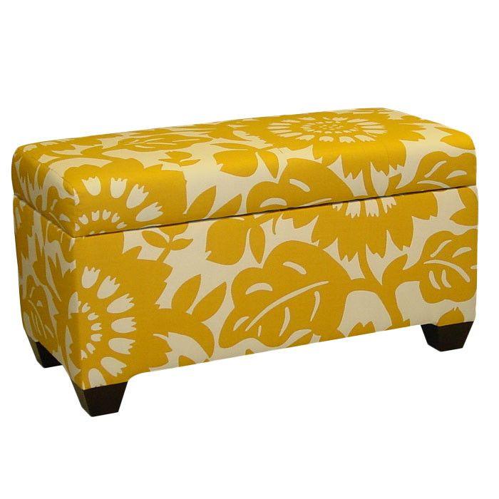 Sunshine Yellow 3 Storage Ottoman Bench Storage Ottoman Upholstered Storage