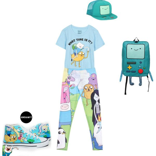 """Adventure Time Crazy!"" by kelly-vong on Polyvore #Adventuretime #BMO #Blue #Finne #Jake #FinneandJake"