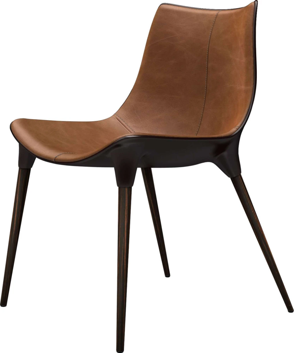 Langham Dining Chair in Leather — France & Son | Leather ...