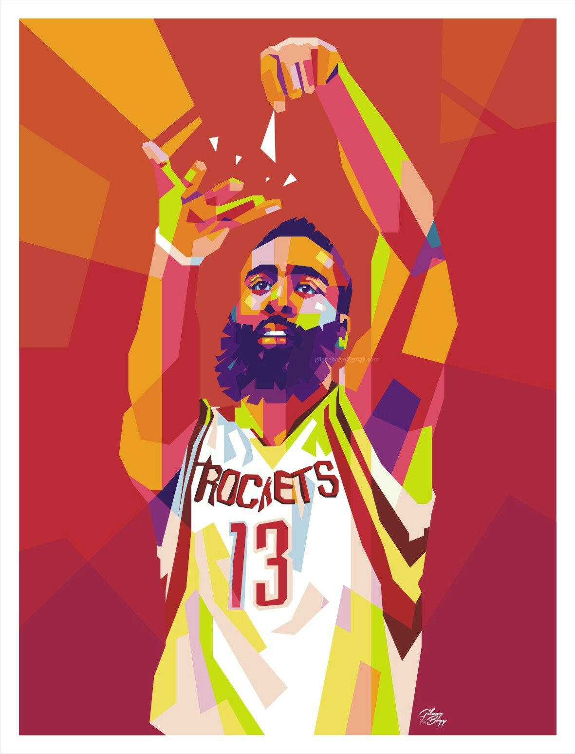 6bac9cef0ce James Harden (WPAP illustration) Pop Art Portraits