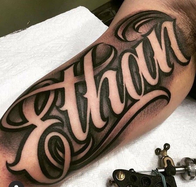 Pin By Jose Garcia On Nombres Y Apellidos Forearm Name Tattoos Tattoo Lettering Fonts Tattoo Fonts