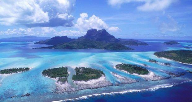 صور مناظر طبيعية رائعة خلابة جميلة و روعة ميكساتك Aerial View Nature Wallpaper South Pacific