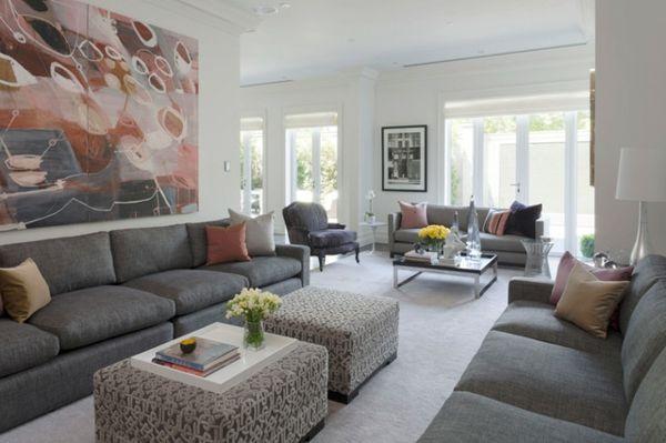 Ein Wohnzimmer voller Kunst und Schönheit -    wohnideennde - bilder für wohnzimmer