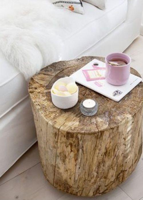 table de nuit rondin de bois - Table De Nuit Rondin De Bois