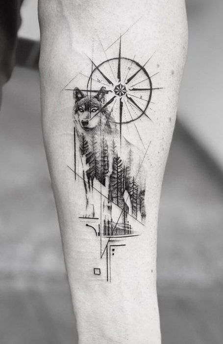 Photo of 25 Wild Wolf Tattoos for Men