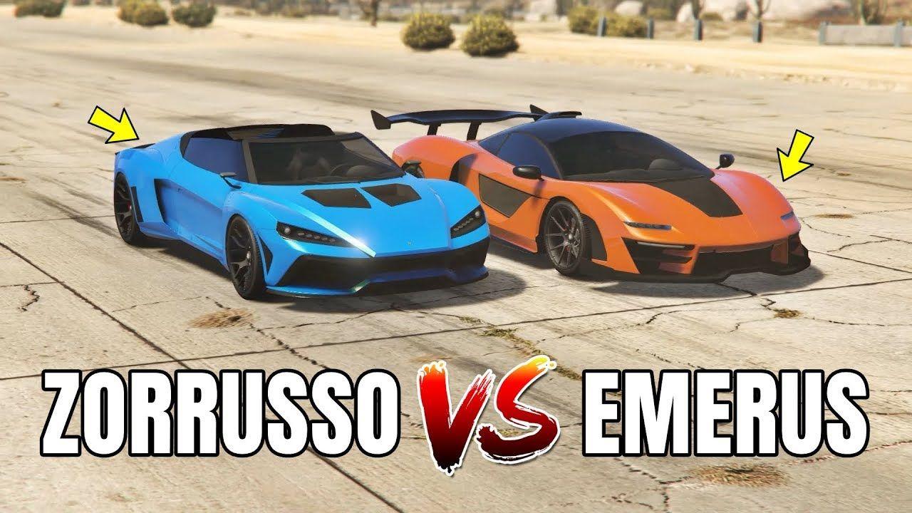 Gta 5 Online Emerus Vs Zorrusso Which Is Fastest Unreleased Cars Gta 5 Gta Gta 5 Online