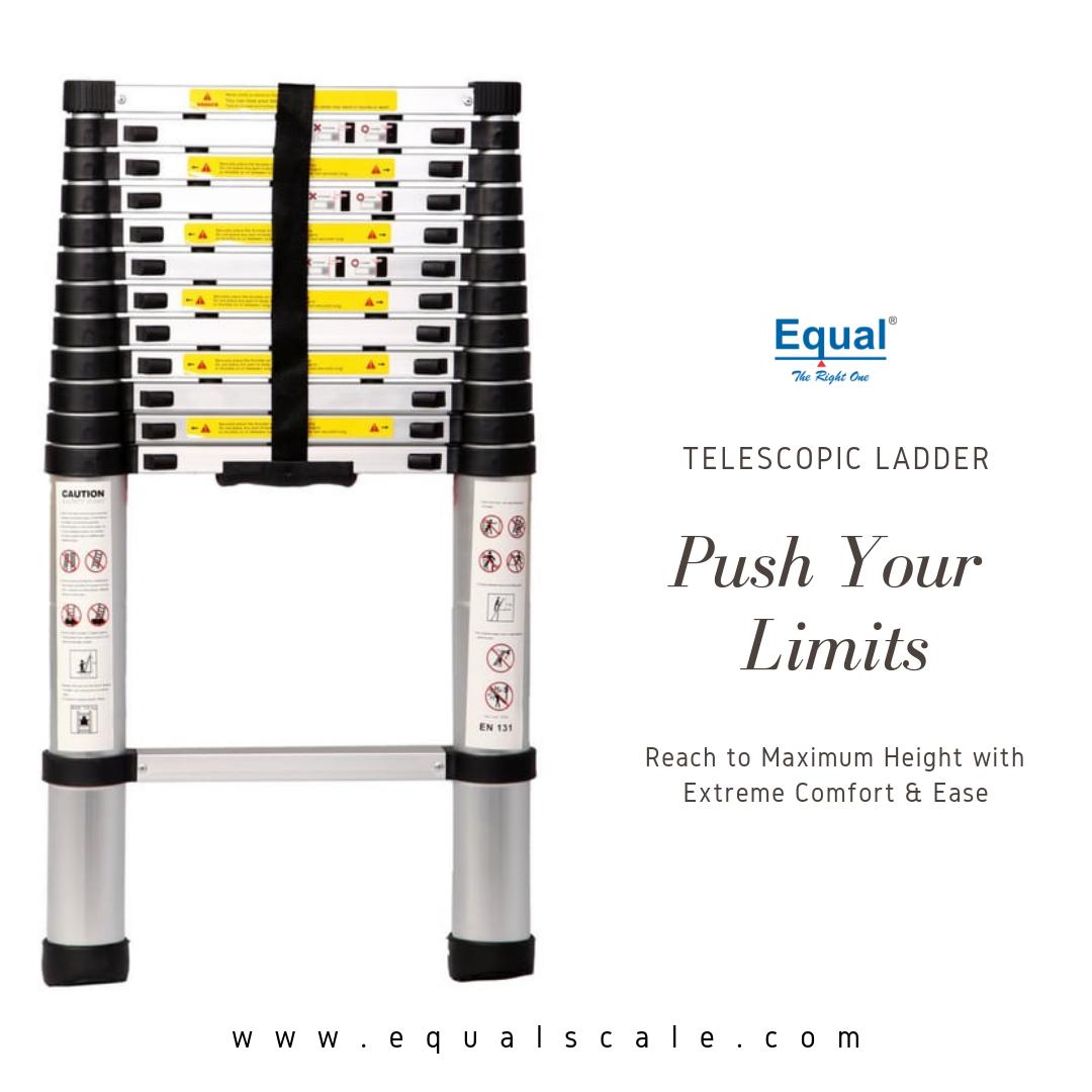 Push Your Limits With Equal Telescopic Ladder Telescopicladder Aluminiumladder Online Amazon Ladder Foldin Telescopic Ladder Aluminium Ladder Telescope