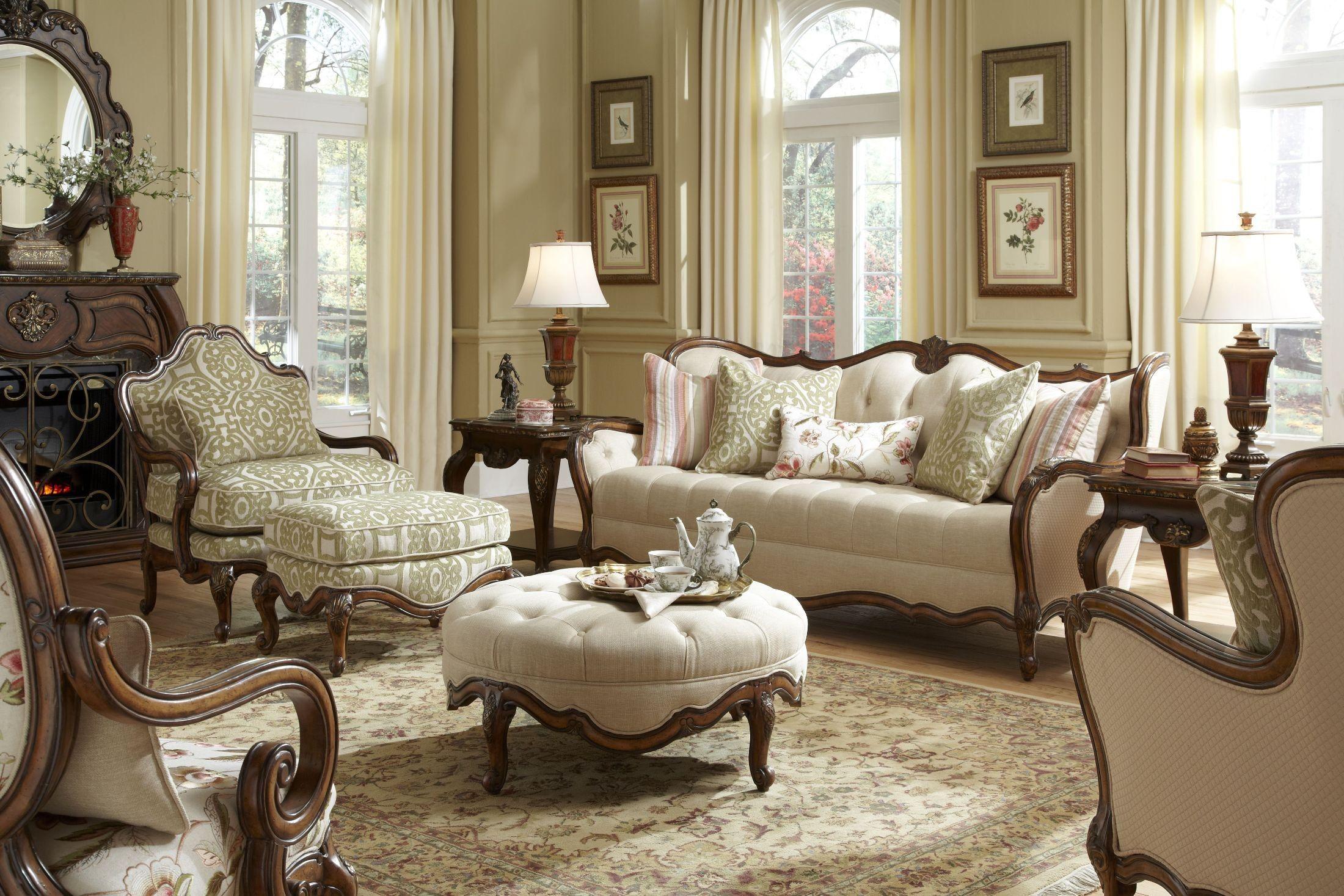 Lavelle Melange Living Room Set 54815 Bisqu 34 Aico Furniture