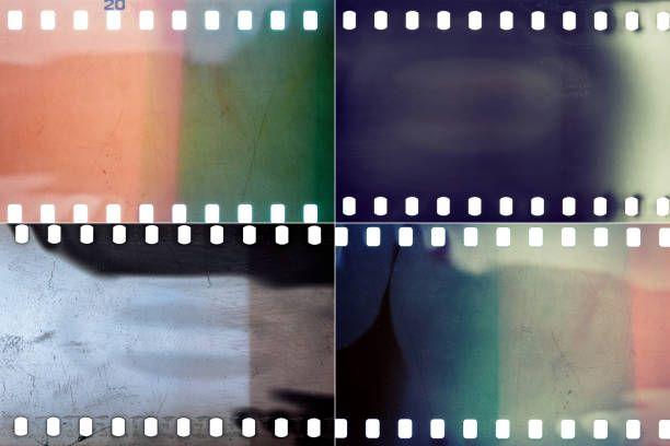 set of film textures