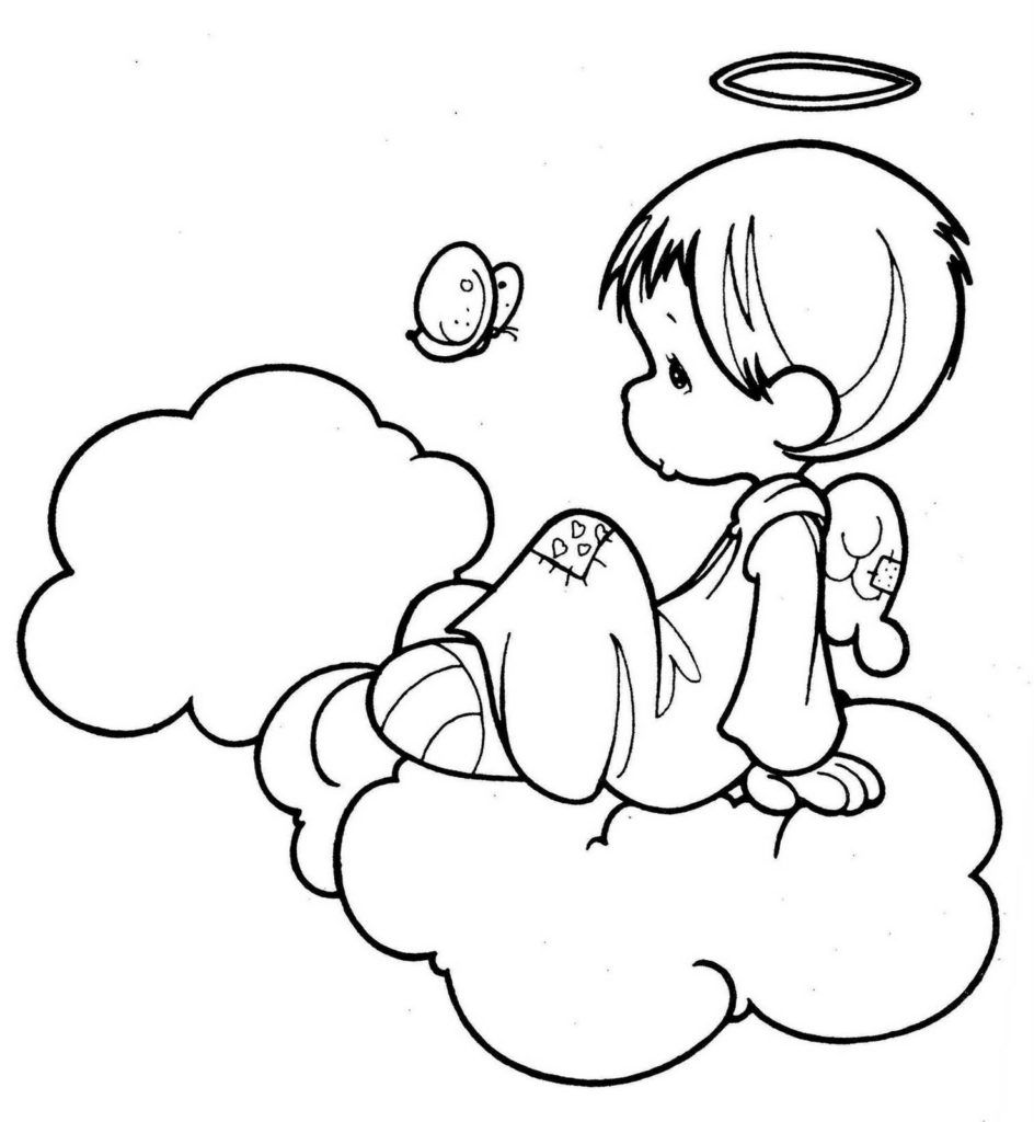 Little Boy Angel Coloring Page Angel Coloring Pages Cartoon