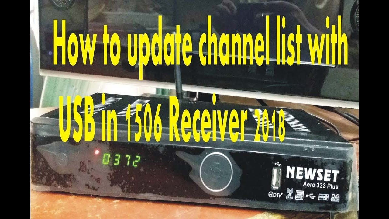 How to update channel list with USB in 1506 SIM RECEIVER 2018 | How