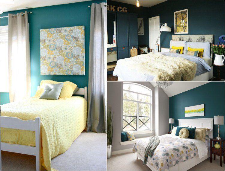 Idées Couleur Peinture Bleu Vert Décoration Murale Chambre Idées
