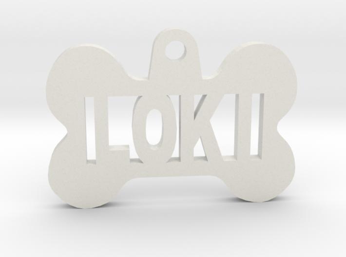 Bone Pet Id Tag Loki By Yukir On Shapeways Pet Id Tags Loki Dog Pet Tags