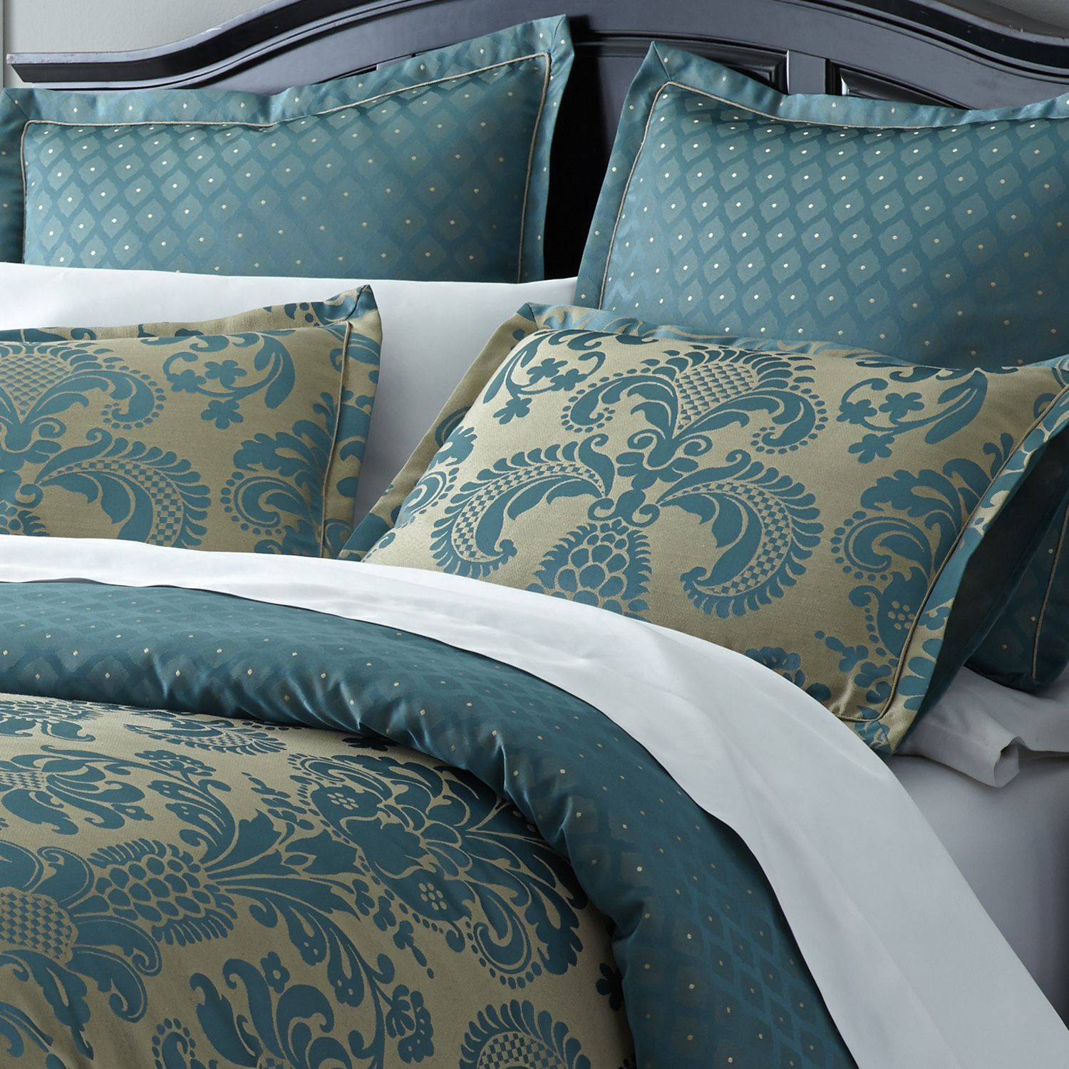 Turquoise Quilt Cover Turquoise Calibri Damask Duvet Cover And Sham Teal
