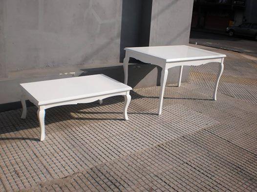 Mesas estilo Reina Ana terminación laca poliuretánica madera de ...