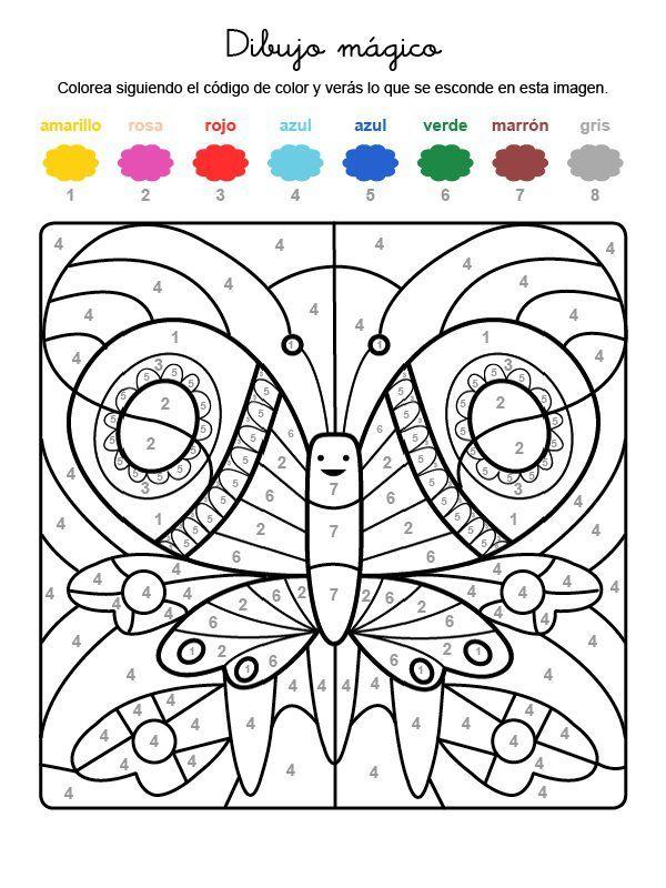 Dibujo Magico De Una Mariposa Dibujo Para Colorear E Imprimir