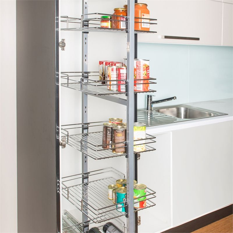 67 Cool Pull Out Kitchen Drawers And Shelves: REstored 400mm 6 Tier Chrome Pantry Pullout I/N 2666439