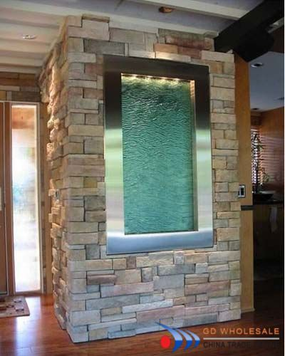 Beau Inside Water Fountain In Stone Wall. Great For Entryway.