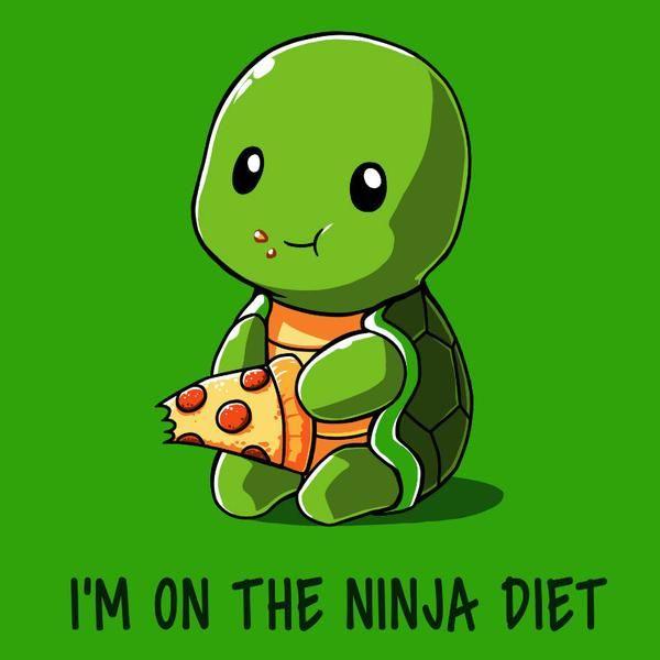 Ninja Diet Green Cute Cartoon Drawings Cute Animal Quotes Cute Drawings