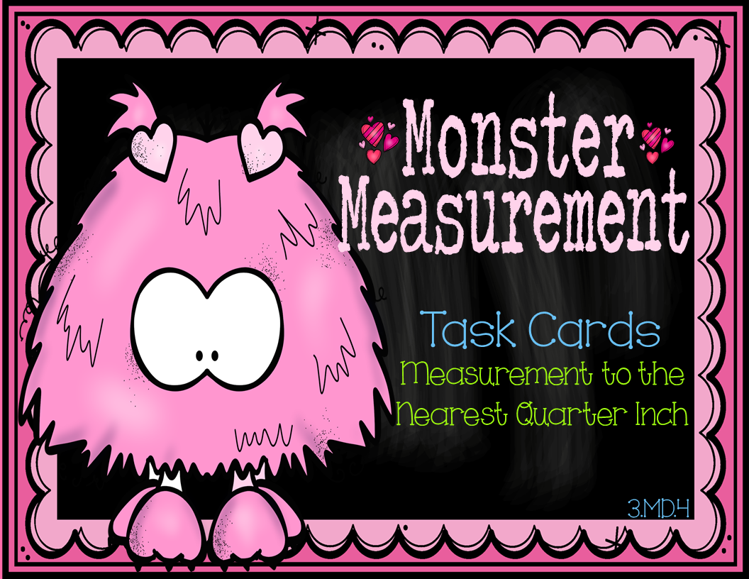 3 Md 4 Measurement To Nearest Quarter Inch Line Plot Task Cards