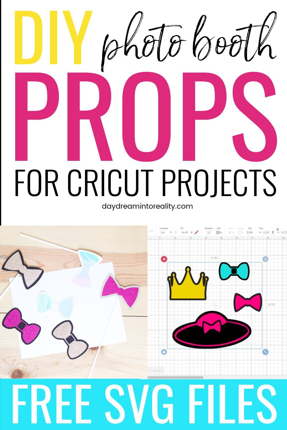 Diy photo booth props with cricut ideal for parties in