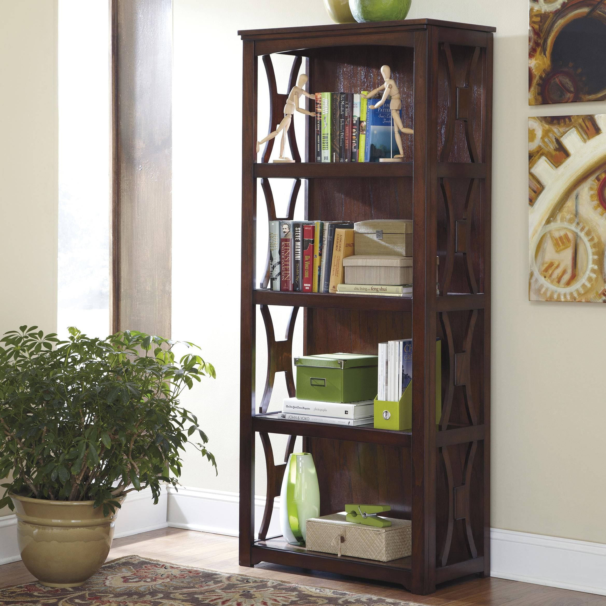 size headboard bookcase by white bookcases zayley ashley full bed storage