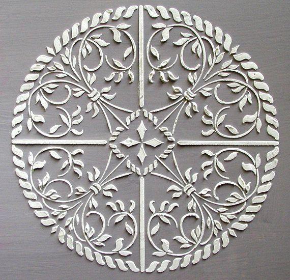 Soulevé de plâtre médaillon Astana Stencil, pochoir Craft, pochoir