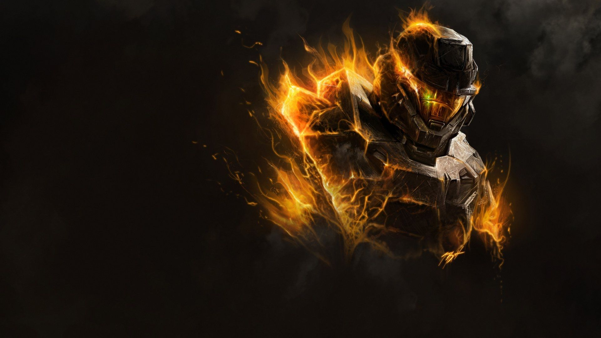 Master Chief Halo 5 Guardians Art Hd Wallpaper Halo Wallpaper