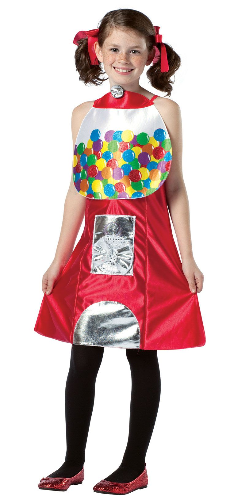 Gumball machine girls costume funny costumes halloween for Cool halloween costumes for kids girls