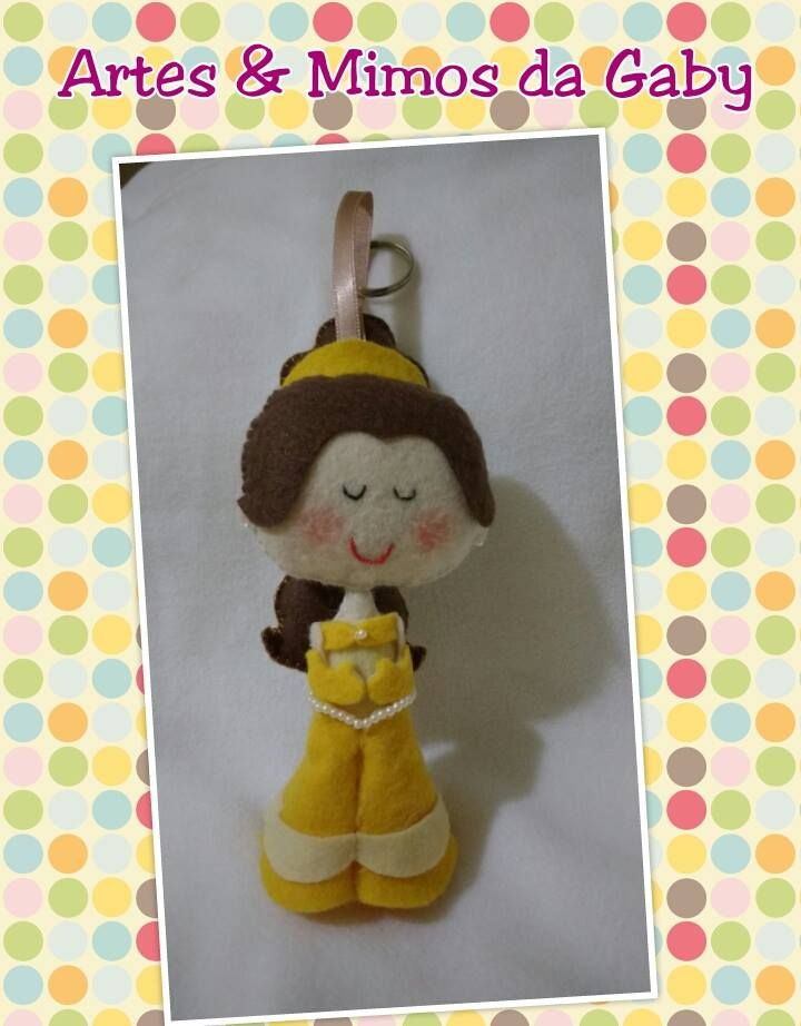 Chaveiro ou lembrancinha de aniversário Princesa Bela, com mto carinho para as princesas de verdade *-*  #arte #mimo #princesa #abelaeafera #carinho