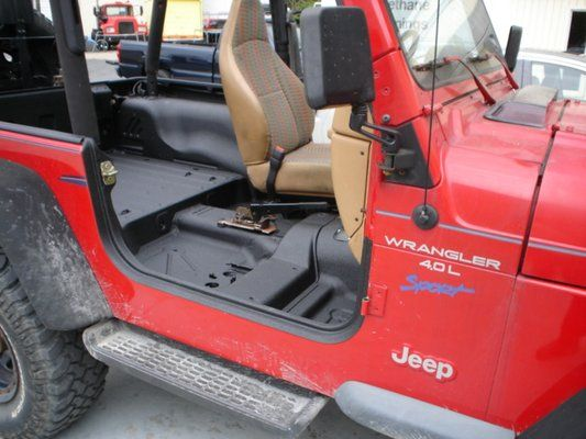 Who Needs Carpet Just Bedline The Interior And Install Drain Plugs Jeep Interiors Jeep Mods Jeep Tj