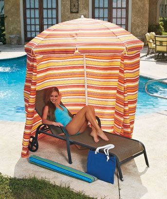 Portable Cabanas Canopies Pool Orange Deck Tent Gazebos Sun Shelters Curtains