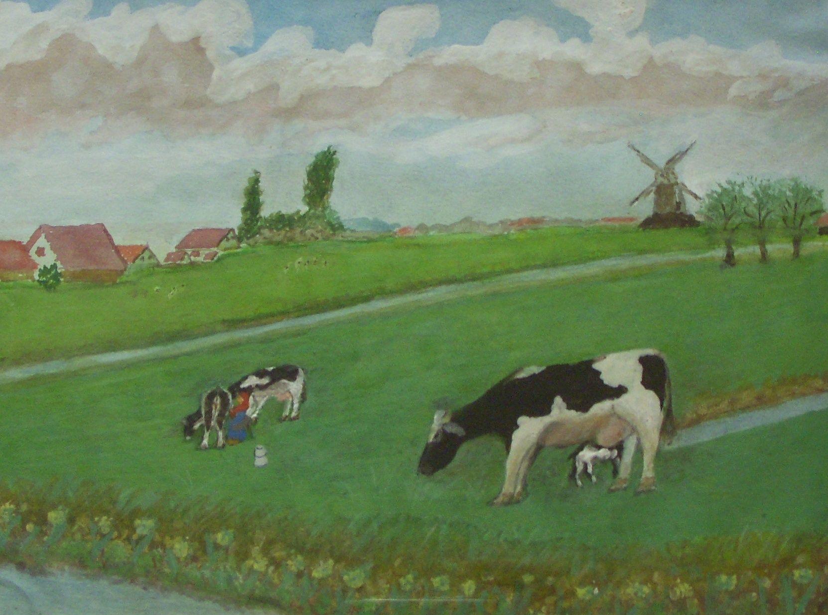 Kühe auf der Weide, U. Kretschmer