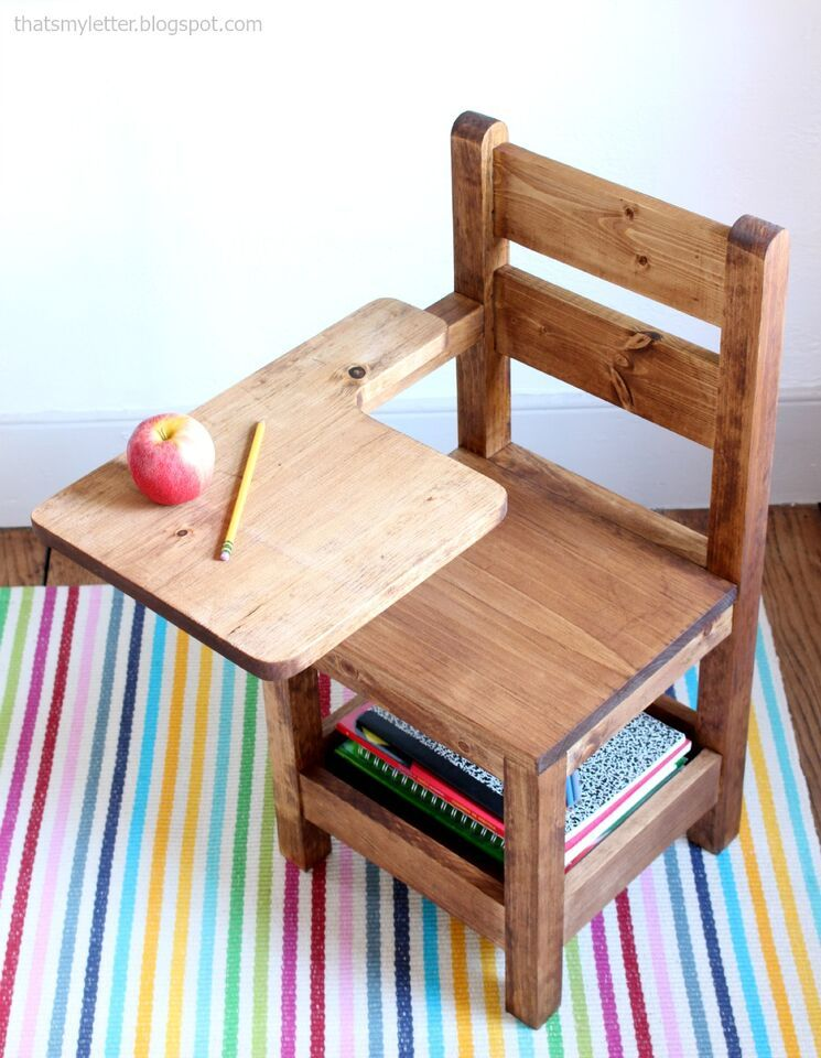 schoolhouse chair with writing pad desk knock off wood pinterest