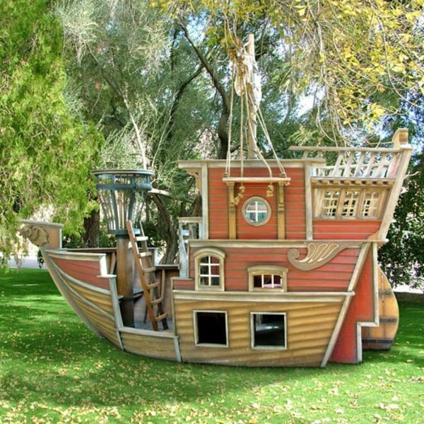 garten spielhaus pirate garten spielh user pinterest playhouses tree houses and play houses. Black Bedroom Furniture Sets. Home Design Ideas