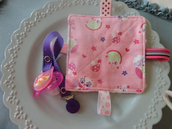 Baby Girl Pacifier Clip set purple  enamel by Sassydoodlebaby, $9.99