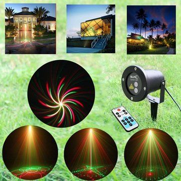 Remote R&G Laser Projector Stage Light Waterproof Decorative Lamp ...