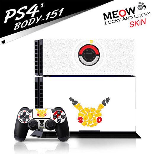 Pokemon PS4 hauptmaschine Folien-skin + PS4 controller Schutzskin