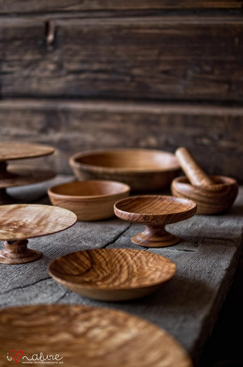 wooden serving plates and cake stands / kitchen & i love nature kitchen utensils | i love nature - wooden things ...