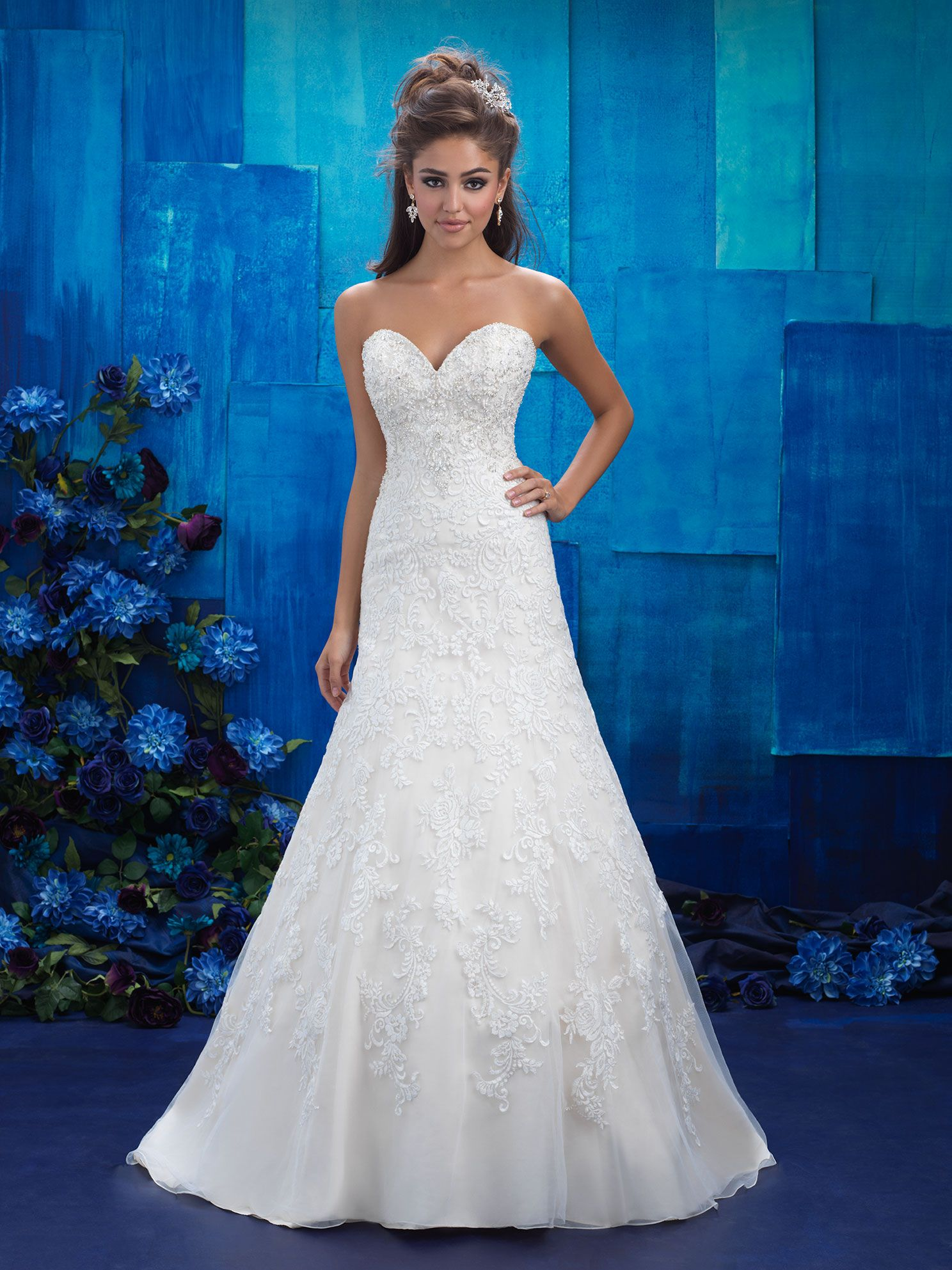 Blue plus size wedding dresses  Available at Something Blue Bridal weddinggown plussize