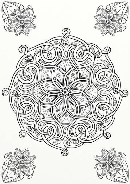 10 X Tangles Celtic Knots Mandala Adult Coloring Pages Celtic Coloring Adult Coloring Mandalas Coloring Pages