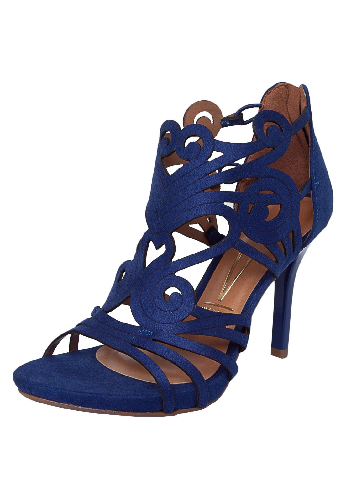 a47ef1d6a0 Sandália Vizzano Camurça Azul - Compre Agora