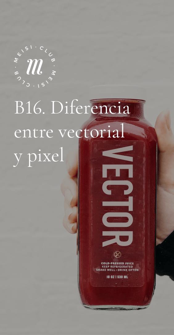 B16. Diferencia entre vectorial y pixel https://meisi.es