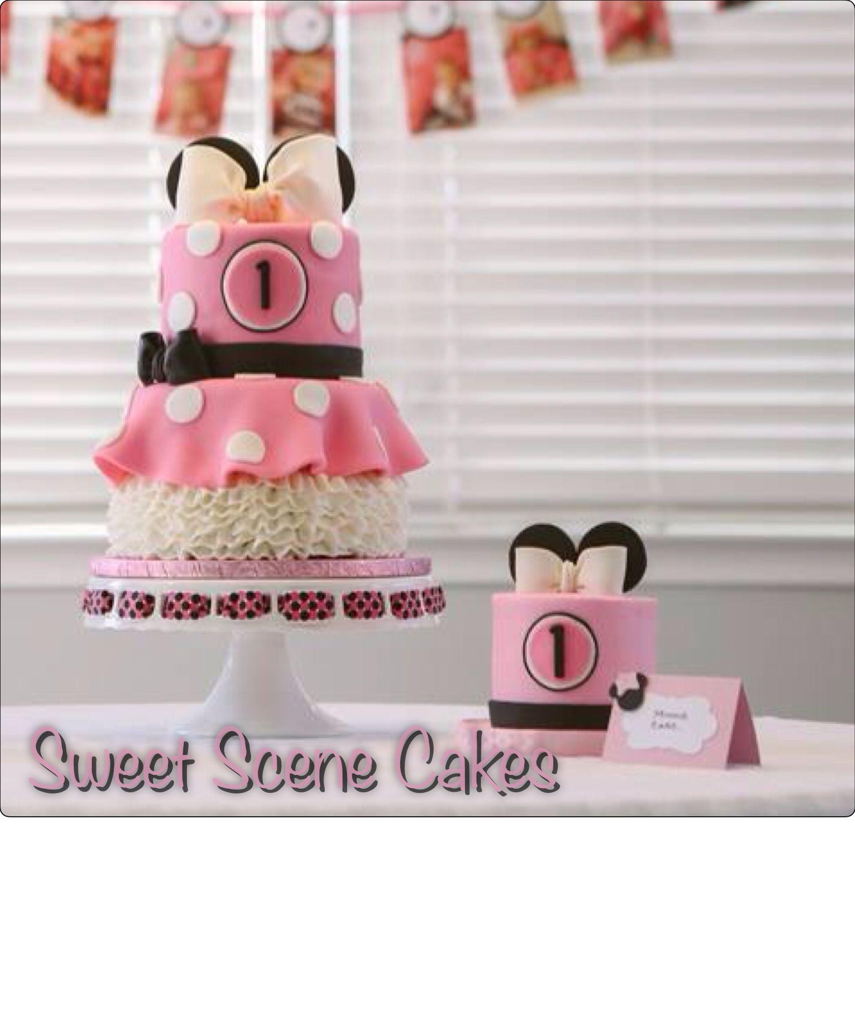 Minnie cake and smash #minniecake #minniemousecake