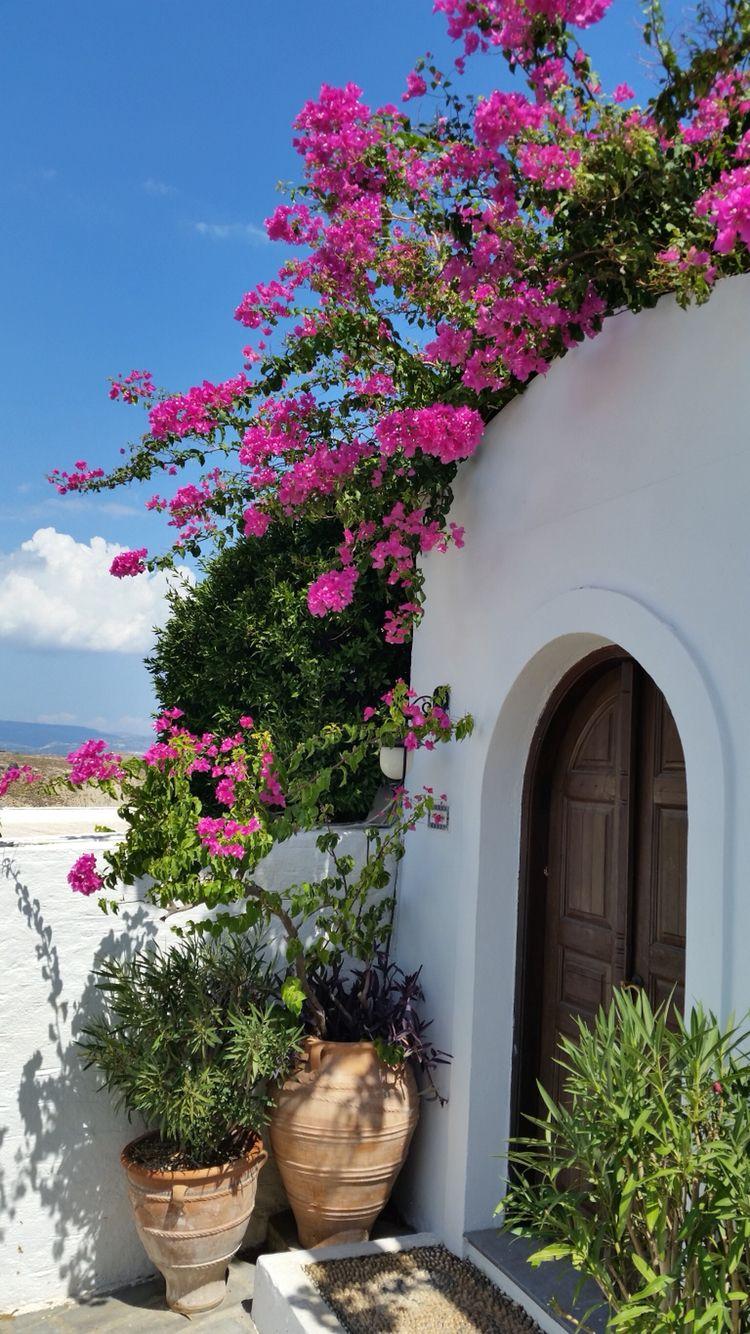 Griechenland,Lindos Outdoor entryway, Beautiful doors